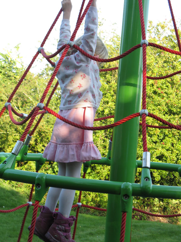 Climbing fun in Little Bourton