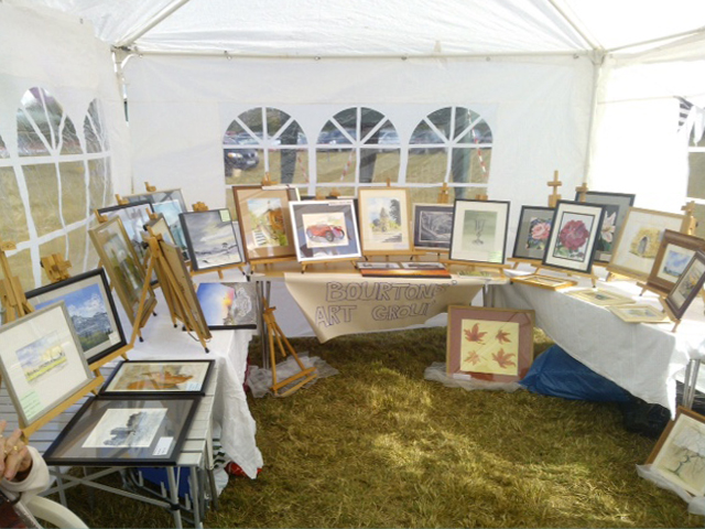 Great Bourton art group stall